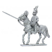 Cavalryman with Italian helmet, lance and sword, V-IV Cen. B.C