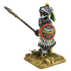 Aztecan warrior of 'Jaguars' or 'Pumas' rank