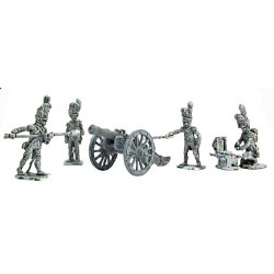 French Guard Artillery crew 1805-1812 and 12 lb cannon