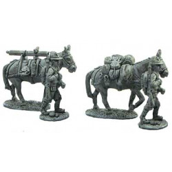 Alpini drivers and mules
