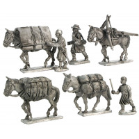 Mules with baggage and drivers XIII - XIV century