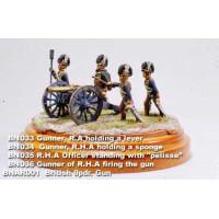 Gunner of R.H.A firing the gun.