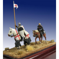 Templar Knight and Squire XIII Century