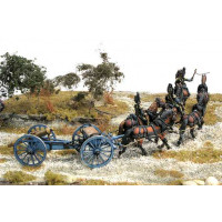 Piedmontese 'Voloira'(Train of horse artillery) with 6 hor