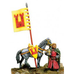 Dismounted Knight near his horse