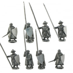 Dismounted Knights with cloak, standing