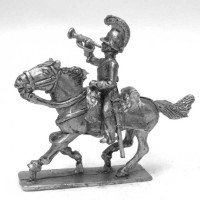 Trumpeter of Dragoons charging 1806-1814