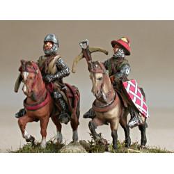Crossbowmen mounted on walking horses