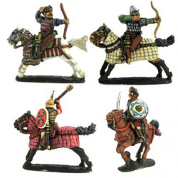 Heavy Cavalry, Ghulam or Mamelukes, galloping horses (4 variants