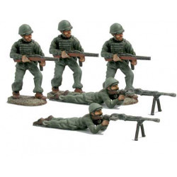 Parachuters with MAB gun