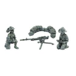 Breda 37 Machine gun and bersaglieri operators