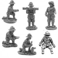 Artillerymen crew for antiaircraft Breda 20/65 - Colonial