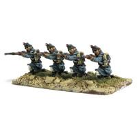 Line infantryman kneeling, firing