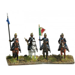 Command group of lancers in campaign dress