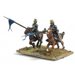 Lancers in campaign dress, charging