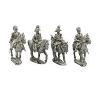 Command group of Royal Carabineers, walking