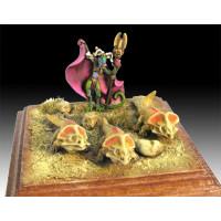 Lizardman Priestes with Protoceratops familiars