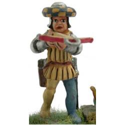 Italian crossbowman 1450, aiming