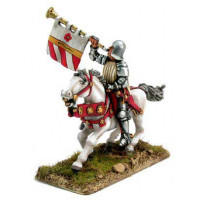 Trumpeter with sallet, mounted