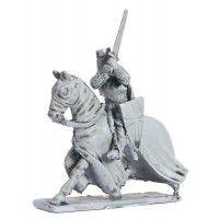 Teutonic Knight with sword, charging, 1250-1300