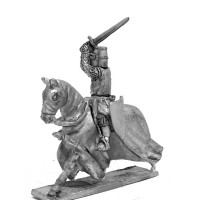 Knight XIII century, charging with sword