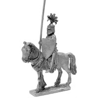 Italian Knight 1280 - 1330 with helm shield and lance.