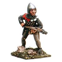 Genovese crossbowman , aiming, 1346