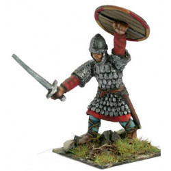Norman or Saxon warrior, spear and shield
