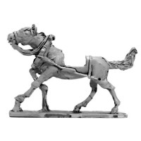 French Artillery Train horse, galloping (Front)
