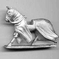 Medieval Horse, covered, trotting