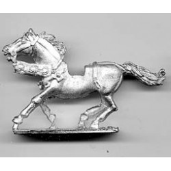 Horse with light harness 1450, galloping