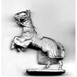 Horse for medieval figures, covered, rampant