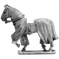 Covered war horse 1180 - 1350, wolking