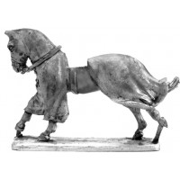 Covered War Horse galloping 1180 - 1350.