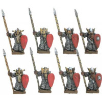 Dwarf warriors with spear and shield