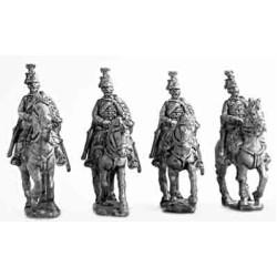 Hussars,dress uniform, walking