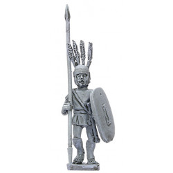 Warrior with spear and shield, advancing,V-IV Century B.C.