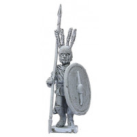 Officer with cloak, lance and shield, V-IV Century B.