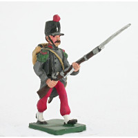 Fusilier with campaign uniform, attack march