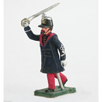 Officer of infantry with 'Gabbano' (overcoat)